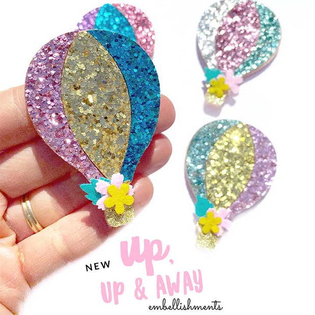 Sparkly Hot Air Balloon Craft Patch Embellishments