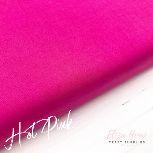 hot pink basic 100% cotton fabric
