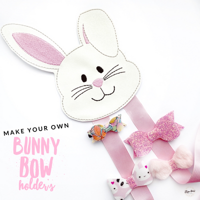 Make your own Bow Holder- DIY Bunny Rabbit Bow Holder Felties