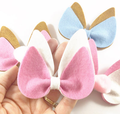 Miss Bunny Pinch Bow Die Cutter