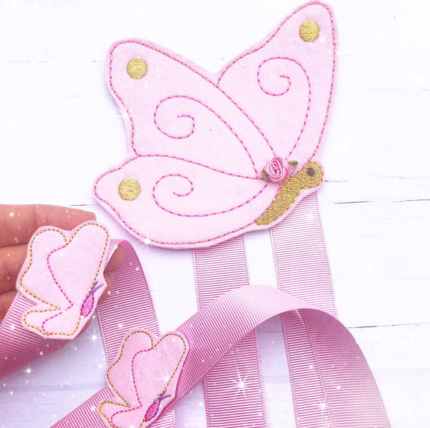 Make your own Bow Holder- DIY Butterfly Bow Holder Felties