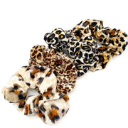 Luxury Velvet Leopard Print Scrunchies
