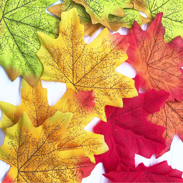 Luxury Autumn Fabric Leaves