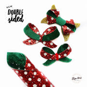 Double Sided Polka Dot Santa's Boots Chunky Fabric