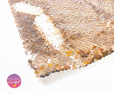 rose gold sequin fabric felt