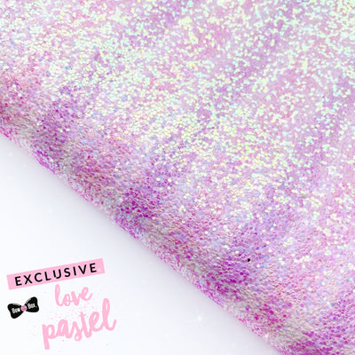Exclusive Loved Up Striped Ombre Chunky Glitter Fabric Sheets