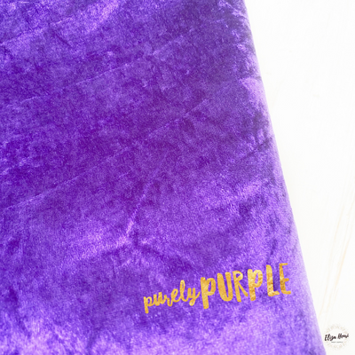 Purely Purple Crushed Velvet Fabric Felt Sheets