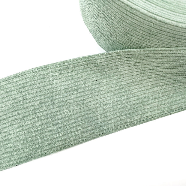 Dusky Green Corduroy Ribbon 3''