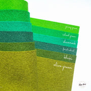 100% Wool Felt- 20 x 30 cm Sheets- Choose your colour