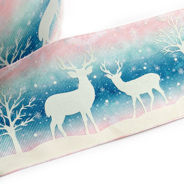 Glow in the Dark Little Deer Grosgrain Ribbon 3''