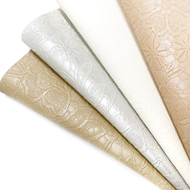 Metallic Embossed Faux Leather Fabric Sheets