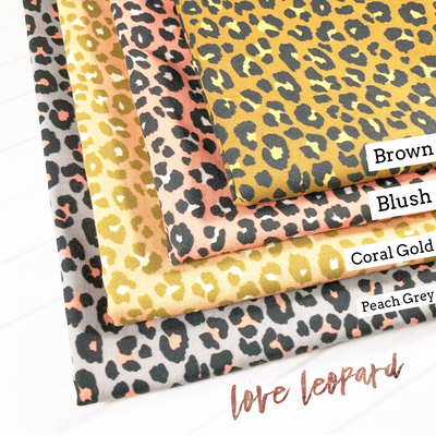 Love Leopard Print Artisan Fabric Felts