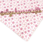 Falling snowflakes Pink Bullet Fabric