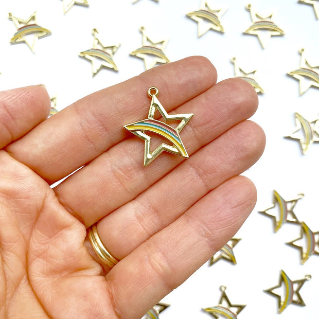 Rainbow Star Charms