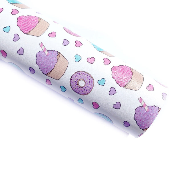 Yummy Treats Faux Leather Fabric Sheets