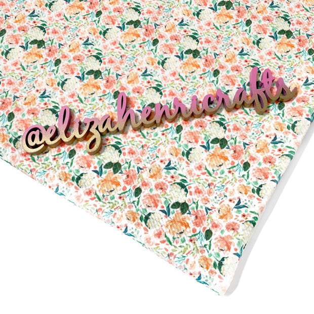 EHC Peach & Blush Bloom Bullet Fabric
