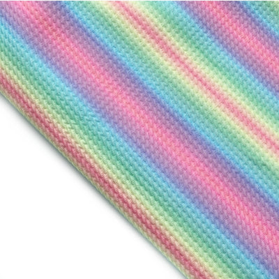 Pastel Rainbow Print Rolly Rolly Bullet Fabric