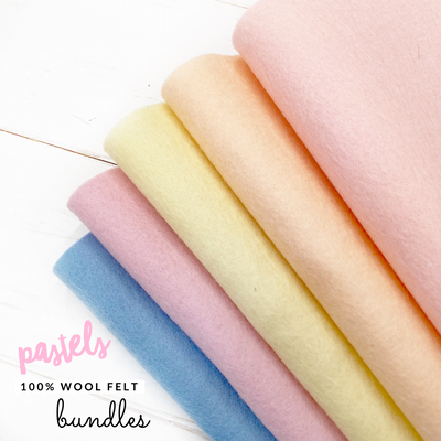 Pastels 100% Wool Blend Felt Bundle