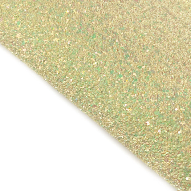 Yellow meadow Chunky Glitter Fabric