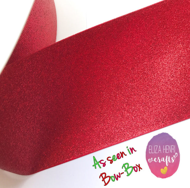Red Glitter Grosgrain Ribbon 3''