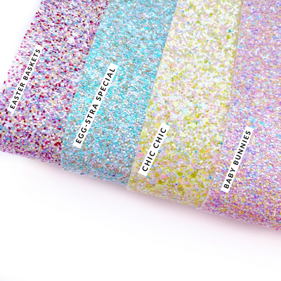 Easter Mix Up Chunky Glitter Fabric Sheets