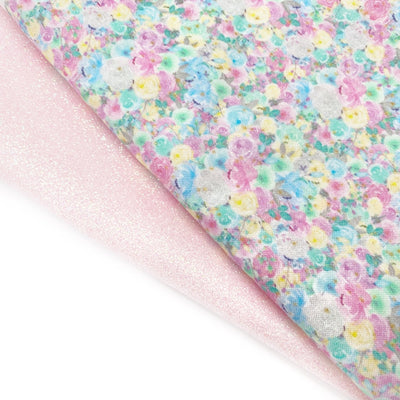 Pink Summer Fresh Floral Fabric Felt