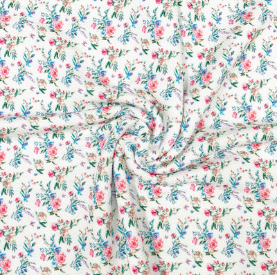 Enchanted Unicorn Floral Premium Print Bullet Fabric