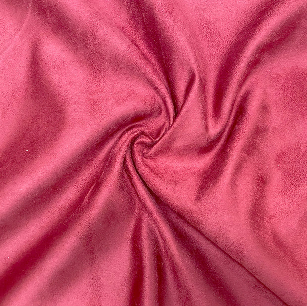 Classic Wine Luxury Suede Kisses Fabric