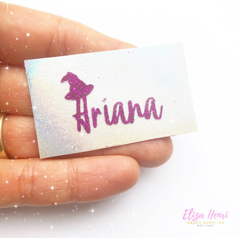Halloween Themed Mini Personalised Names Iron On Bow Transfers- Create your own