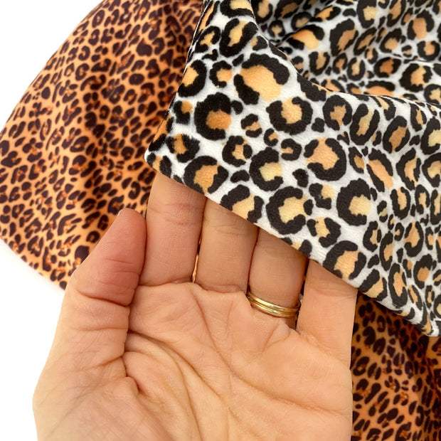 Really wild Leopard Premium Stretch Velvet Fabric