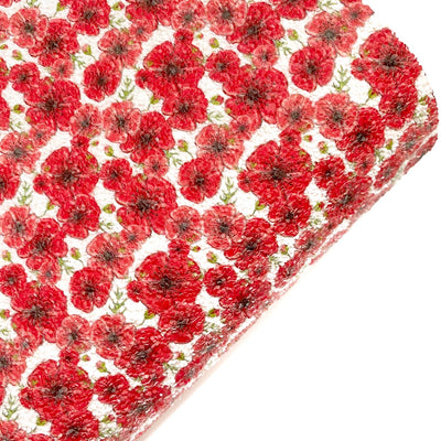 Poppy Fields Chunky Glitter Fabric Sheets