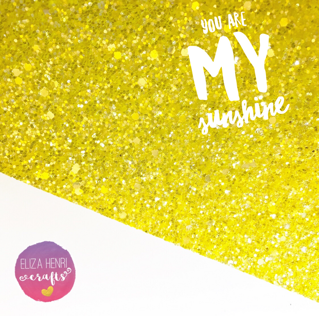 You are my Sunshine Chunky Glitter Fabric