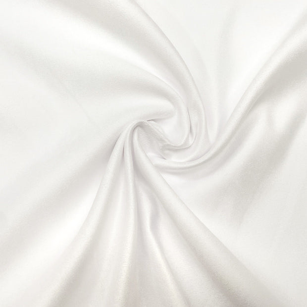 Pure White Luxury Suede Kisses Fabric