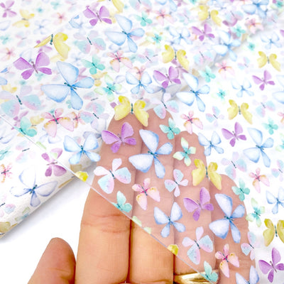 Flutterbye little butterfly Transparent Fabric Sheets