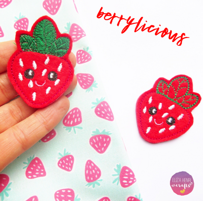 Red Strawberry Felties