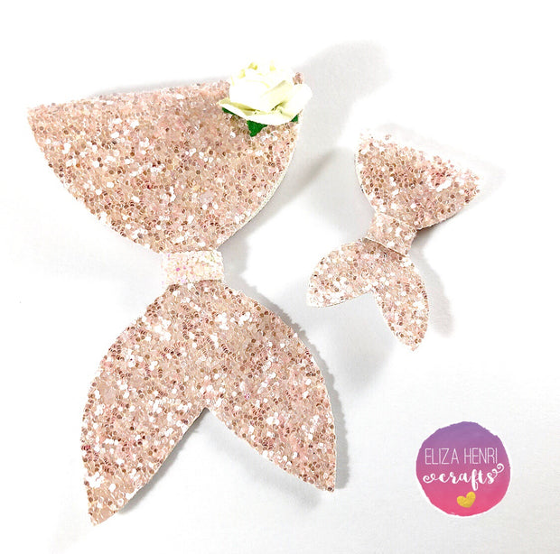 Mila the Mermaid Official Bow Die cutter- 2 sizes on 1