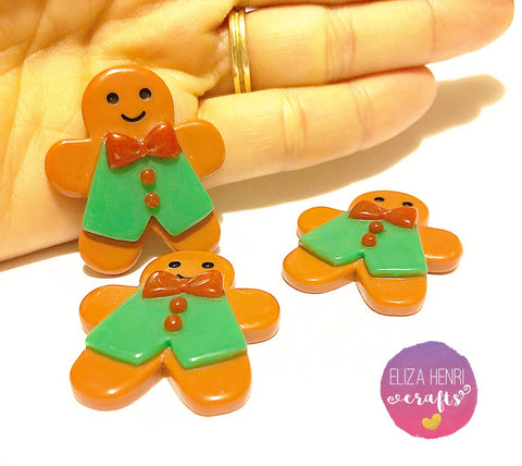 Cute Gingerbread Man Charms