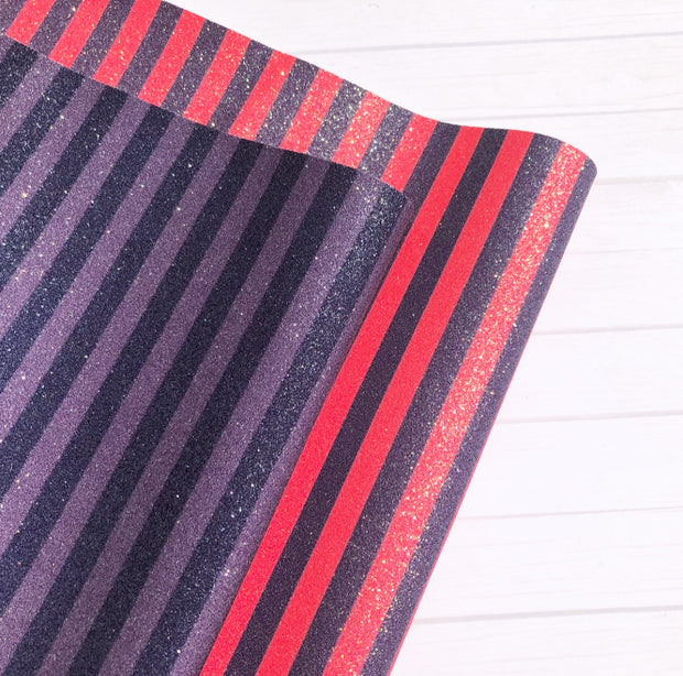 Luxury Halloween Stripes Fine Glitter Fabrics