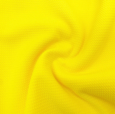 Neon Yellow Colour Block Bullet Fabric