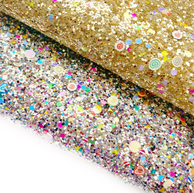 Cupcake Glitter Surprise Chunky Glitter Fabric Sheets