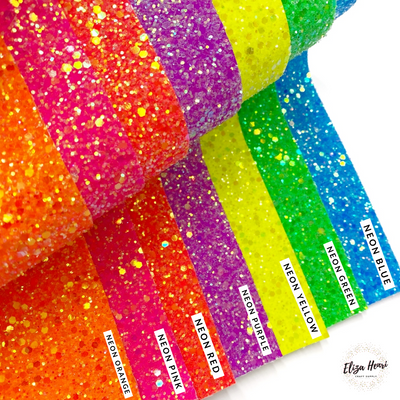 Premium Lux Neon Frosted Glitter Fabric Sheets