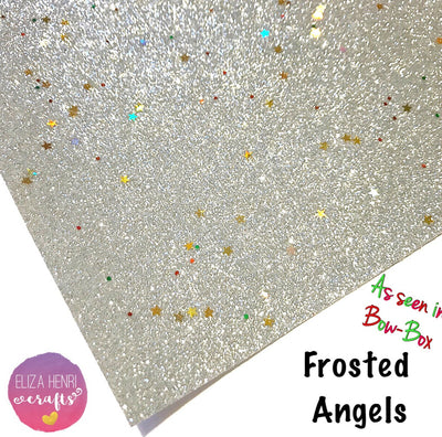 Frosted Angels Fine Glitter Fabric