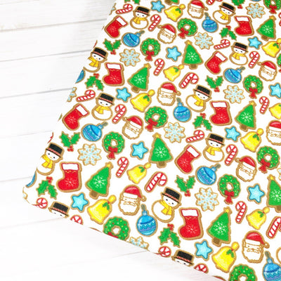 EHC Santa and Xmas Cookies Fabric Felt