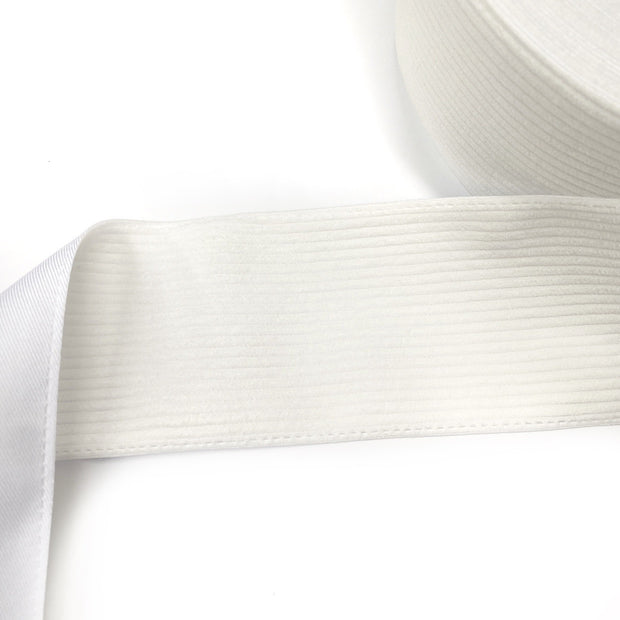 White Corduroy Ribbon 3''