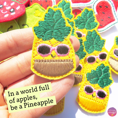 Hawaii Pineapples Fruit Face Kawaii Felties