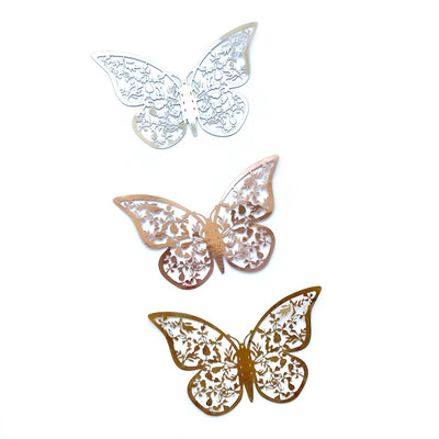 Metallic 3D Cut-out Butterfly Embellishments