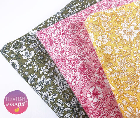 NEW Liberty English Garden Collection Emily Silhouette- Luxury Liberty of London Fabric Felts