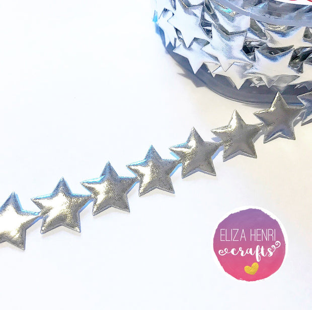Silver 23 mm Metallic Star Cutout
