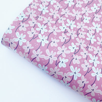 Pretty as can be Floral Faux Leather Fabric Sheets