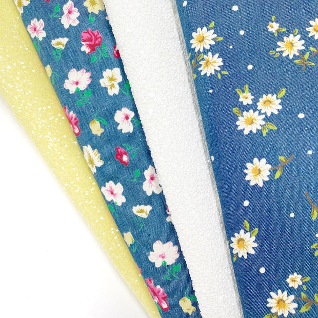 The Denim Floral Bundle- Beautiful Featured Fabric